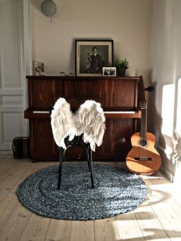 Piano and feather chair