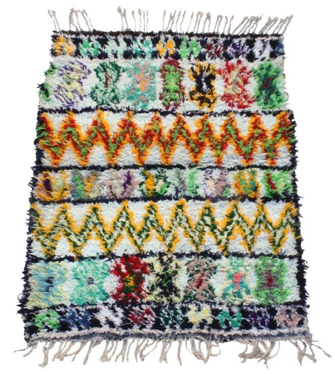 Geometric Design Boucherouite Rug