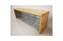 Vintage Wire shoe bench £295