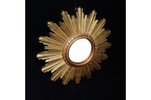French Convex Glass Sunburst Mirror £150