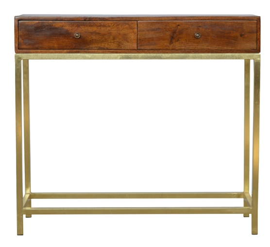 2-drawer-solid-wood-and-gold-iron-base-console-table