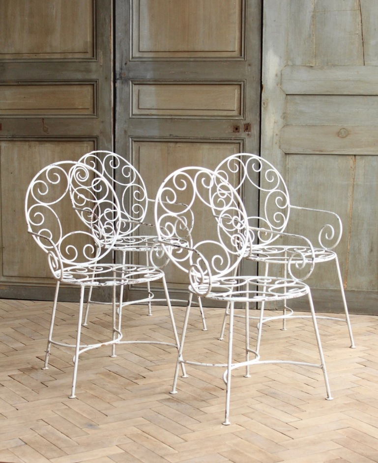 vintage-french-curly-white-garden-arm-chairs-mid-century (1)