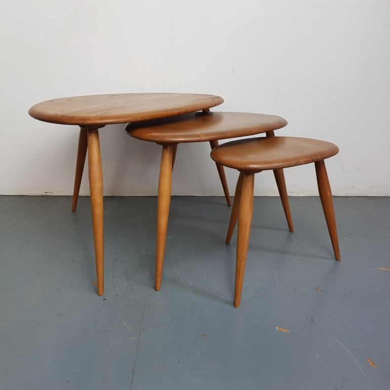 ercol-nest-of-blonde-pebble-tables-ercol