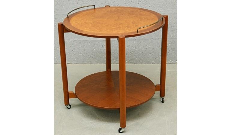 mid-century-1960-s-teak-and-bird-s-eye-maple-circular-drinks-trolley