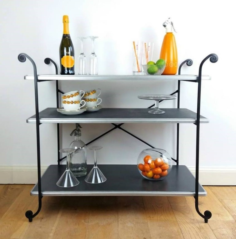 stencilled-3-tier-buffet-table-drinks-server-with-wrought-iron-legs