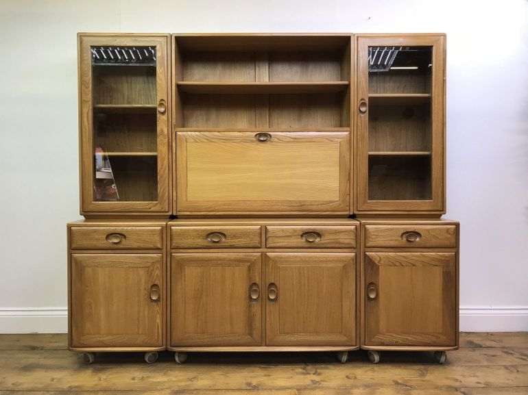stunning-ercol-sideboard-light-blonde-elm-retro-vintage-cabinet-cupboard-castors-ercol