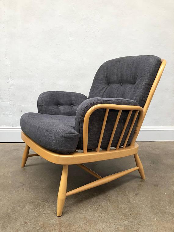 vintage-1960s-ercol-blonde-windsor-jubilee-arm-chair-retro-mid-century-1960