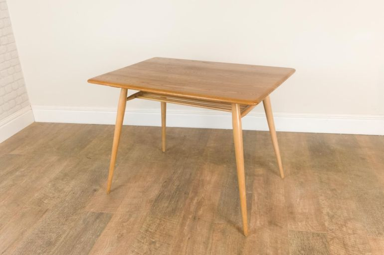 vintage-retro-ercol-rectangular-light-elm-breakfast-dining-table-magazine-rack