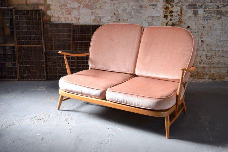 vintage-retro-mid-century-blonde-ercol-two-seater-windsor-sofa