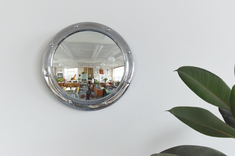 vintage-small-round-silver-chrome-framed-fish-eye-wall-mirror